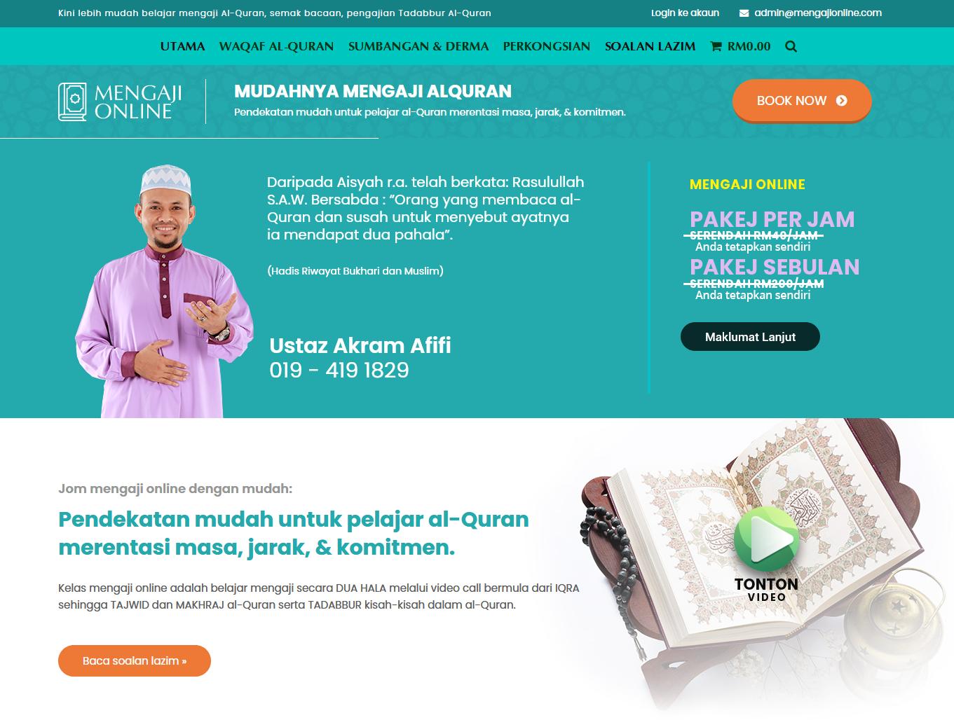 MUDAHNYA MENGAJI ALQURAN Pendekatan mudah untuk pelajar al-Quran merentasi masa, jarak, & komitmen.